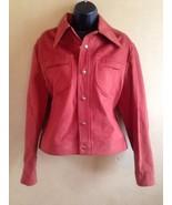 Lee Vintage 60s Orange Cotton Sueded Denim Jacket Medium USA Ribbon Label - $233.74