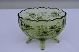 Fenton Rose Colonial Green Oval Vase #9251 CG - $24.75