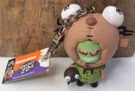 Nickelodeon Invader ZIM Palisades Human Disguise Zim Doom Keychain Figur... - $27.90