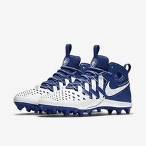 Men's Nike Huarache V Lacrosse Lax Cleats Royal Blue White 807142-411 NEW - $39.99