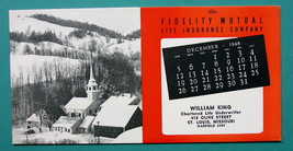 INK BLOTTER 1948 - AD Fidelity Mutual St. Louis Missouri & Snowy Town in... - $4.49