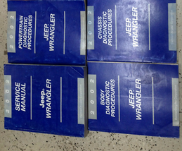 2002 Jeep Wrangler Servizio Negozio Riparazione Officina Manuale Set Fab... - $168.24