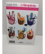 Simplicity 2450 Coffee Mug Coverings Pockets Uncut Colorful Sewing Pattern  - $13.71