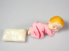 Baby shower cake topper Sleeping baby girl cake Decoration Vintage Amscan - $12.61