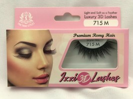 IZZI 3D LASHES LIGHT & SOFT AS A FEATHER LUXURY 3D LASHES #715 M HUMAN R... - $2.96