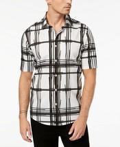 Alfani Men's Regular Fit Bold Broken Plaid Shirt; MEDIUM #531 - $19.99