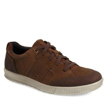 Ecco Men's Ennio Lace Leather Sneaker Casual Comfort Oxford Shoe Coffee ... - $94.77