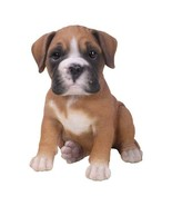 Pacific Giftware PT Realistic Look Statue Brown Boxer Puppy Dog Home... - $19.79