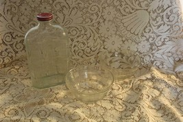 Hazel Atlas Depression Glass Clear CRISSCROSS 32 OZ Refrigerator Bottle ... - $58.50