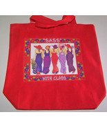 "CANVAS TOTE BAG SASS W/ CLASS 13 X13 X 3"" FOR RED HAT LADIES OF SOCIETY - $10.69"
