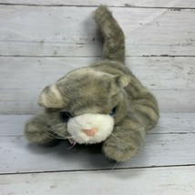 Trendmasters 1993 Gray Realistic Cat Plush Audible Meowing Noises And Moves - $9.47