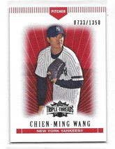 2007 Topps Triple Threads Red Chien-Ming Wang Card-#/1350! - $1.24