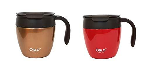 Oslo Double Vacuum Structure Stainless Steel Tea Coffee Gold Red Color Mug Cup T