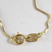 18K YELLOW GOLD CHAIN NECKLACE 0.5 mm MINI VENETIAN LINK 19.68 IN. MADE IN ITALY image 2