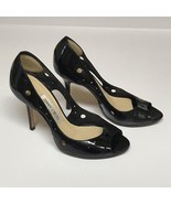 Jimmy Choo Black Cut Out Peep Toe Patent Leather Pumps EU Size 36 US Size 6 - $189.00