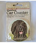 Labradoodle Absorbent Car Coaster Stoneware E&S Pets Dog Auto NEW - $10.88