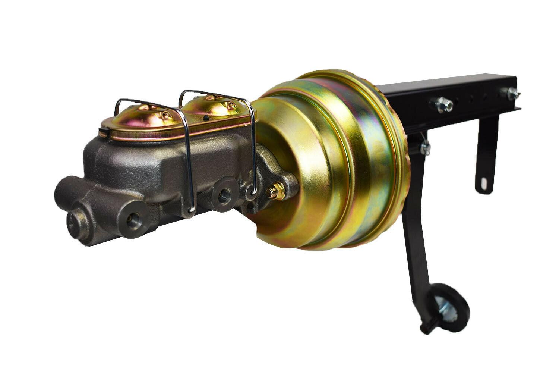 "8"" Dual Power Brake Booster Pedal Firewall Mount Bracket Assembly Street Rod"