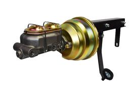 "8"" Dual Power Brake Booster Pedal Firewall Mount Bracket Assembly Street Rod image 1"