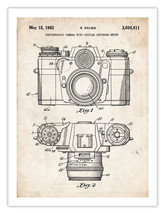 "Vintage 35MM Camera Invention Poster 1962 Us Patent Print 18X24"" Sauer Art Gift - $19.75"