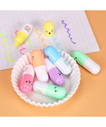XUES® 6PCS/set Mini Pill Shaped Highlighter Pens For Cute Smiling Face G... - $2.24