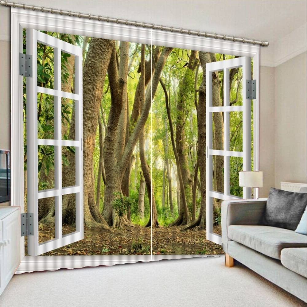 Blackout-3d-Bedroom-Curtains-3D-Window-Curtain-For-Living-room-Bedroom-window-la, used for sale  USA