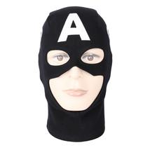 Black Captain America Rogers Helmet Mask Balaclava Hood Hero Cosplay Halloween - $13.27