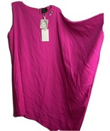 Ted Baker Dress Women's Size 4 Aubreey Fuchsia Pink One Sleeve Smock Coc... - $85.45