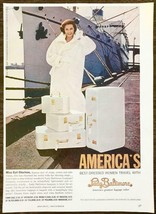 1961 Lady Baltimore Luggage PRINT AD Miss Cyd Charisse Star of Stage Scr... - $11.69