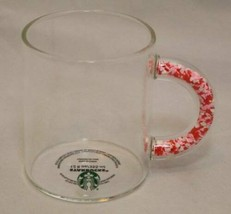 Starbucks 2020 Clear Glass with Heart Confetti Handle Coffee Tea Mug Cup... - $38.56