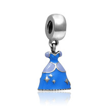 S925 Sterling Silver Disney Cinderella Dress Charm G 1 - $9.89