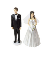 Wilton Classic Bride with Tiara and Groom Wedding Cake Toppers - $20.00