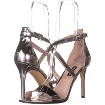 Nine West Mydebut Dress Heel Sandals 207, Pewter, 10 US - $29.75