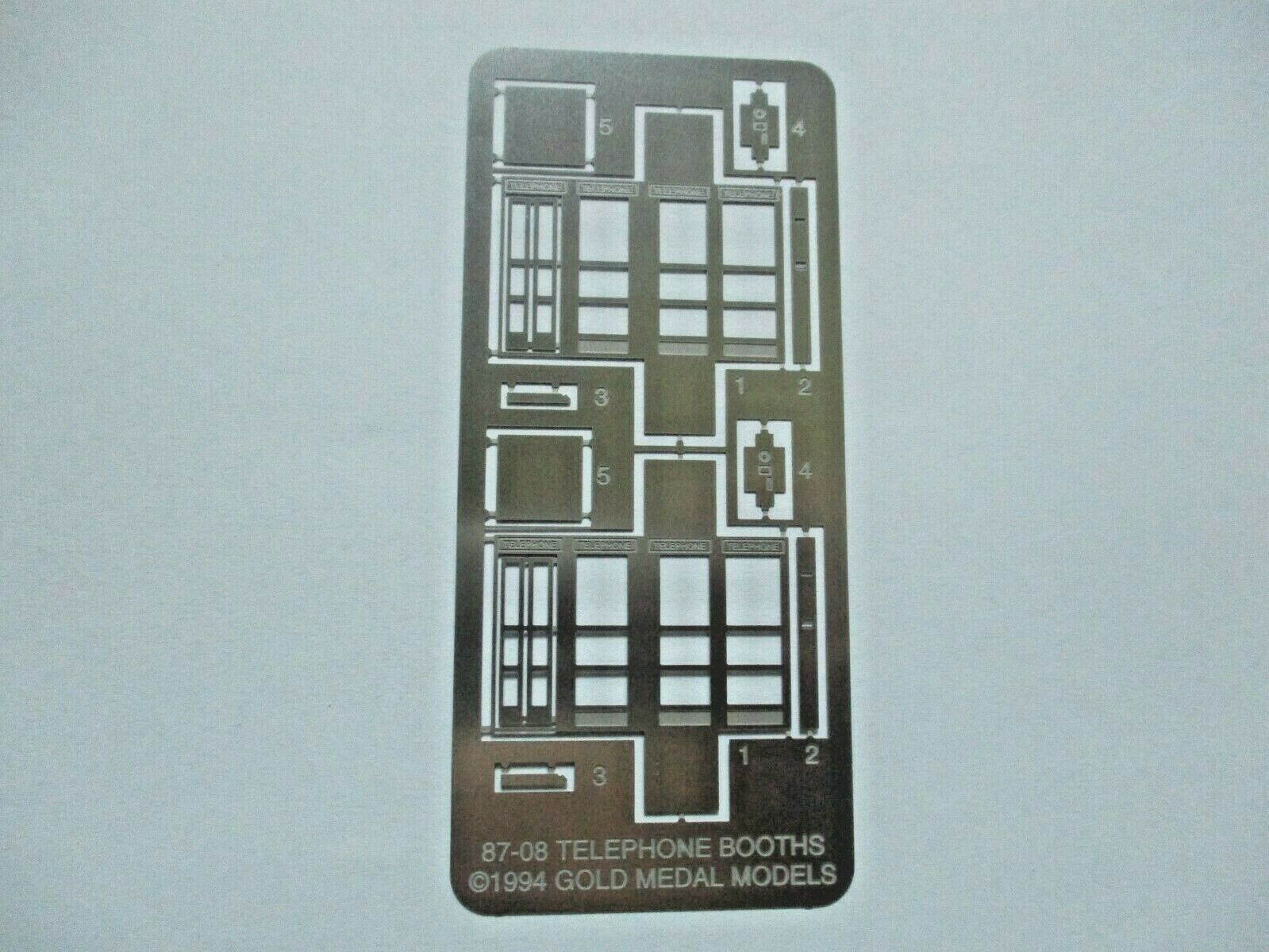 Gold Medal Models # 87-08 Telephone Booths HO-Scale