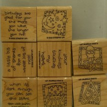 Quick & Cute Stampin' Up! Wood Mounted Stamp Set - $3.36