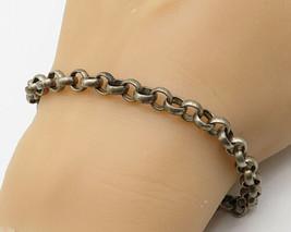 ESPO SIG 925 Sterling Silver - Vintage Bali Designed Loop Chain Bracelet... - $91.97