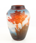 Cameo Glass Vase, Red Flowers, Luxury Wedding Gift, Glass Flowerpot, Gif... - $229.00