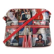 Red Obamas Magazine Patent Messenger Bag - Mod 3031 RD - $49.99