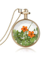 Variation #836 of High Quality Real Dried Flowers Transparent Glass Pend... - $17.76