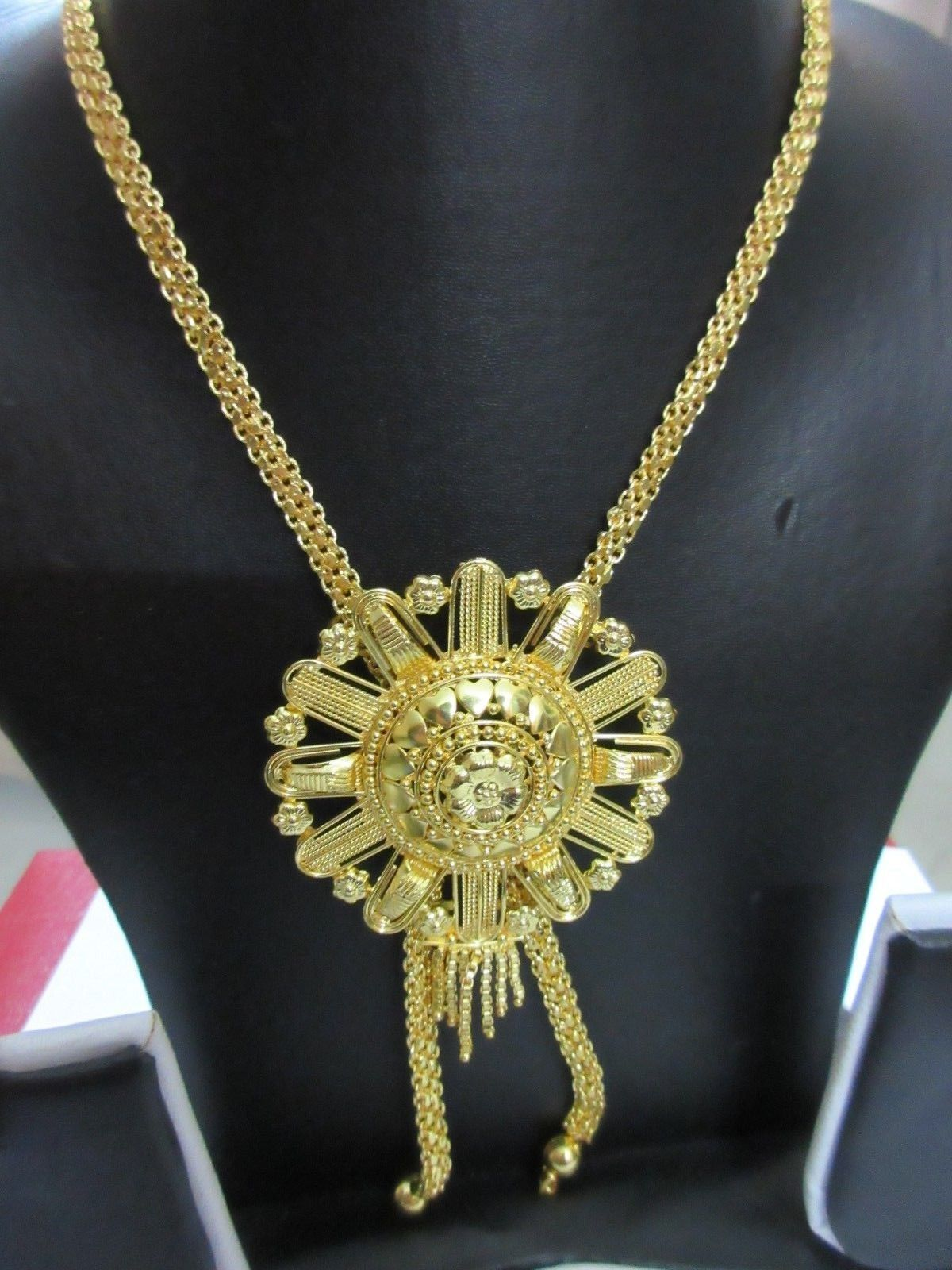 Indian Bollywood Gold Plated Wedding Ethnic Knot Style Fashion Jewelry Necklace image 2