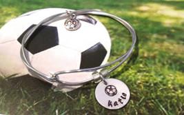 Soccer Bracelet, Soccer Jewelry, Soccer Coach Gift, Sport Jewelry, Socce... - $8.50
