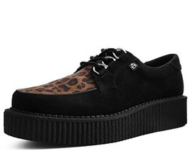 T.U.K. Shoes T2263 Unisex-Adult Creepers, Black & Leopard Anarchic Creep... - $57.78