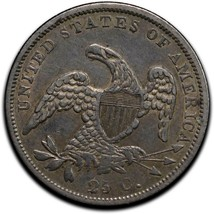 1837Capped Bust Silver 25¢ Quarter Coin Lot# A 508 image 2