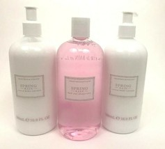 Crabtree & Evelyn Spring Rain Body Lotions & Shower Bath Gel 16.9 500 mL... - $74.24