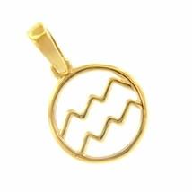 Anhänger der Tierkreis, Medaille, Gelbgold 18K, 750, Aquarium, Durchmesser 12 MM image 1