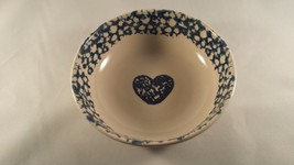 Folk Craft Cereal Bowl Tienshan Hearts Sponge W... - $5.89