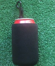 Black neoprene can koozie with handy clip. - $77,84 MXN