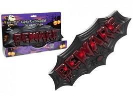 Batter Operated Beware Horror Halloween Plaque - $18.89