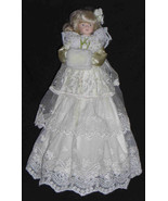 Christmas Tree Topper Victorian Style Lady in Lace Dress - $14.99