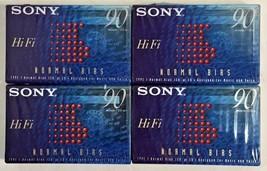 4 SONY HiFi 90 Normal Bias Blank Audio Cassette Tape C-90HFB - New, Sealed - $6.94