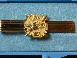 Vintage Goodyear 20 Year Employment Award 12K Gold Filled Tie Bar STILL ... - $29.32